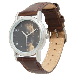 Adorable purebred pug wrist watches