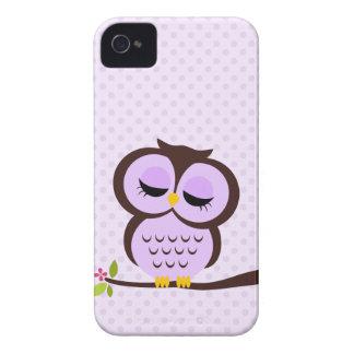 Adorable Purple Owl Case-Mate iPhone 4 Case
