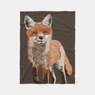 Adorable Red Fox Painting Fleece Blanket