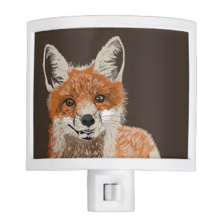 Adorable Red Fox Painting Night Light