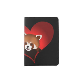 Adorable red panda passport holder