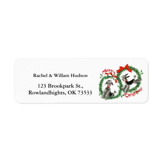 Adorable Retro Christmas Poodles Wreath Custom