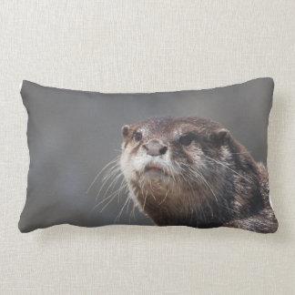 Adorable River Otter Lumbar Pillow
