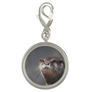 Adorable River Otter Photo Charm