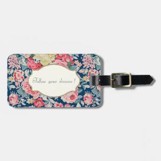 Adorable  Romantic Flowers -Motivational Message Bag Tag