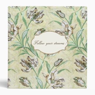 Adorable  Romantic Flowers -Motivational Message Binder