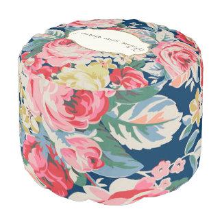 Adorable  Romantic Flowers -Motivational Message Pouf