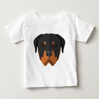 Adorable Rottweiler Cartoon Baby T-Shirt