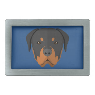 Adorable Rottweiler Cartoon Rectangular Belt Buckles