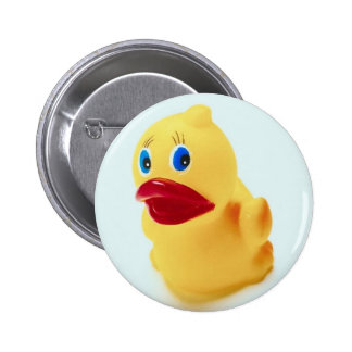Adorable Rubber Duck 2 Inch Round Button