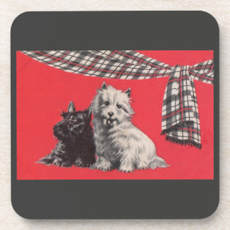 adorable Scottish terriers Coaster