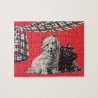 adorable Scottish terriers Jigsaw Puzzle