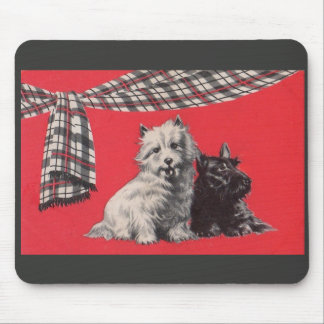 adorable Scottish terriers Mouse Pad