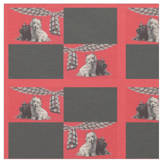 adorable Scottish terriers print Fabric