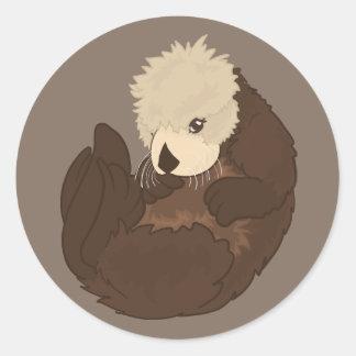 Adorable Sea Otter Sticker Design