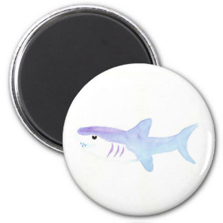 Adorable Shark 2 Inch Round Magnet