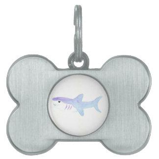 Adorable Shark Pet Name Tag