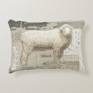 Adorable sheep farmhouse style pillow