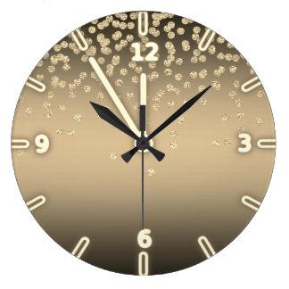 Adorable  Shiny Foil  Confetty Or Diamond Large Clock