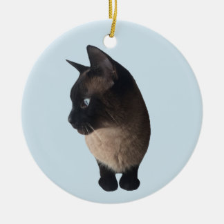 ADORABLE SIAMESE CAT CHRISTMAS ORNAMENT