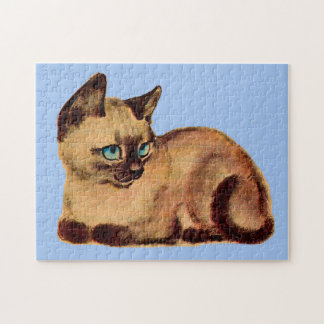adorable Siamese cat kitten Jigsaw Puzzle