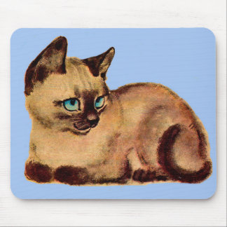 adorable Siamese cat kitten Mouse Pad