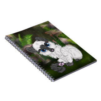 Adorable Siamese Fluffy Kitten Notebook