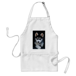 Adorable Siberian Husky Sled Dog Puppy Standard Apron