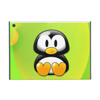 Adorable Sitting Cartoon Penguin Cover For iPad Mini