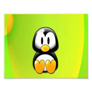 Adorable Sitting Cartoon Penguin Photograph