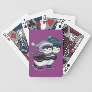 Adorable Skating Penquins Bicycle Playing Cards