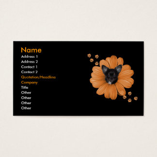 Adorable Sly Heaven Chihuahua 3 Business Card