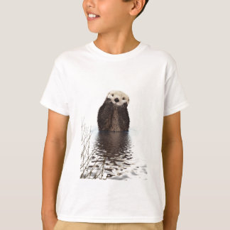 Adorable Smiling Otter in Lake T-Shirt