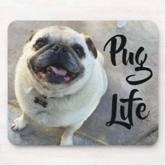 Adorable Smiling Pug Dog Pug Life Mouse Pad