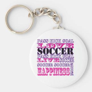 Adorable Soccer Design for Girls Pass Kick Goal Keychain