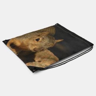 Adorable Squirrel Drawstring Bag
