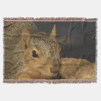 Adorable Squirrel Throw Blanket