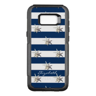 Adorable Starfish ,Navy Blue Stripes-Personalized OtterBox Commuter Samsung Galaxy S8+ Case