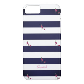 Adorable Striped,High Heels -Personalized Case-Mate iPhone Case