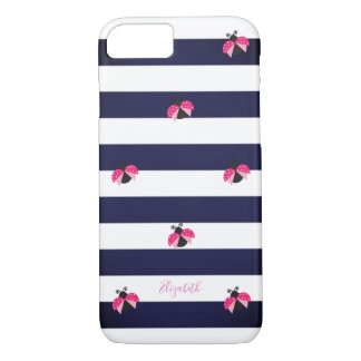 Adorable Striped,Ladybird -Personalized Case-Mate iPhone Case