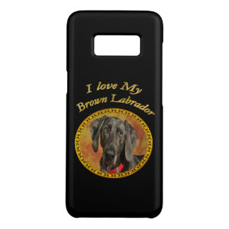Adorable sweet brown labrador canine puppy dog Case-Mate samsung galaxy s8 case