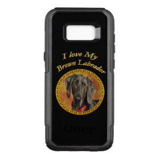 Adorable sweet brown labrador canine puppy dog OtterBox commuter samsung galaxy s8+ case