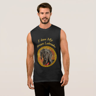 Adorable sweet brown labrador canine puppy dog sleeveless shirt