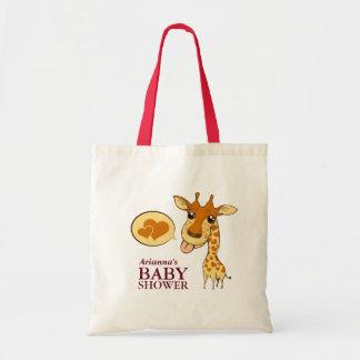Adorable Sweetheart Giraffe Baby Shower Tote Bag