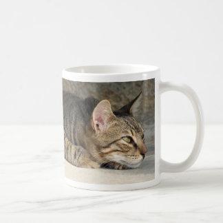 Adorable Thoughtful Tabby Cat Mug