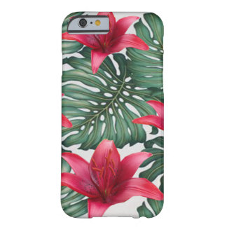 Adorable Tropical Palm Hawaiian Hibiskus Barely There iPhone 6 Case