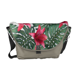 Adorable Tropical Palm Hawaiian Hibiskus Commuter Bags