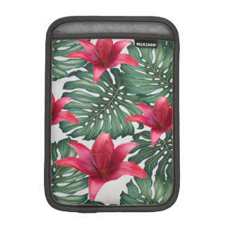 Adorable Tropical Palm Hawaiian Hibiskus iPad Mini Sleeve