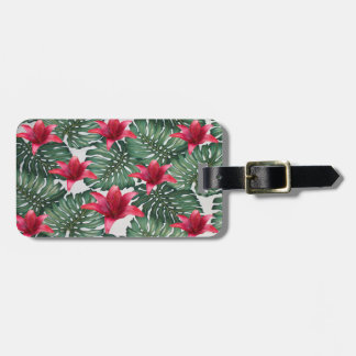 Adorable Tropical Palm Hawaiian Hibiskus Luggage Tag