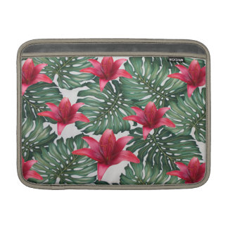 Adorable Tropical Palm Hawaiian Hibiskus MacBook Sleeve